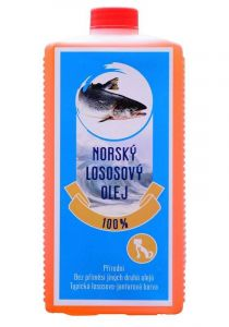 100% norský lososový olej pes 1L