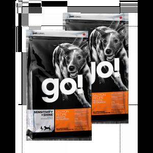 PetCurean GO Sensitive + Shine Salmon 2 x 11,33kg