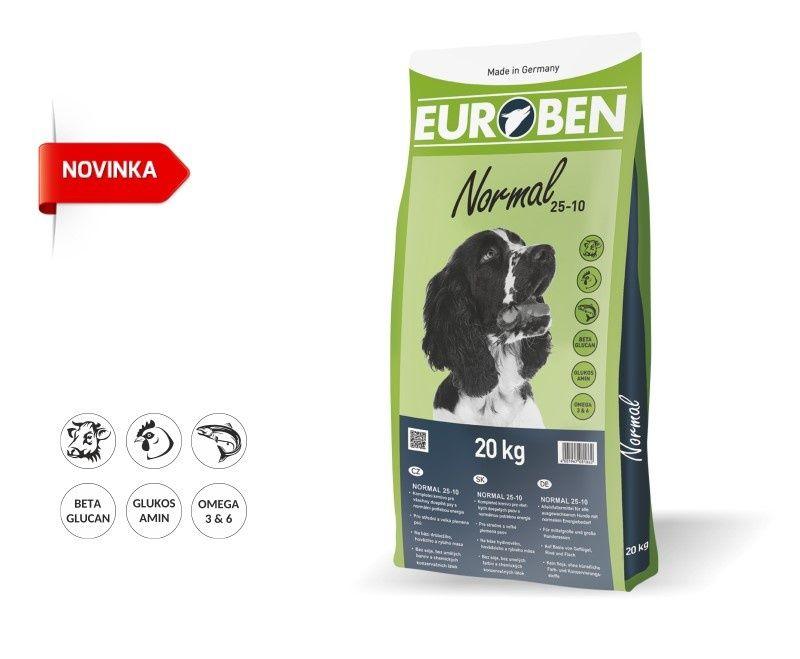 EUROBEN 25-10 Normal 20kg + Sušené maso 75g ZDARMA Happy Dog