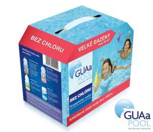 GUAa POOL-Sada bezchlórové bazénové chemie pro velké bazény