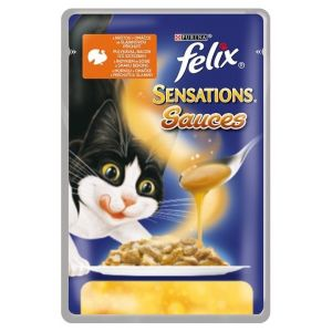 Kapsička Felix Sensations souces krůta+slanina v omáčce 100g