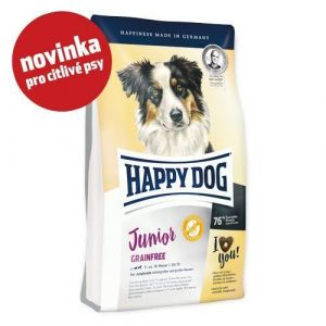 Happy Dog Junior Grainfree 2x10kg + 4 x konzerva 400g
