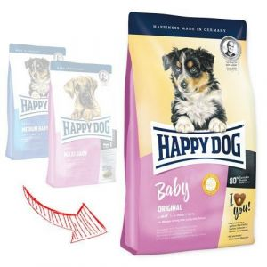 Happy Dog Baby Original 2x10kg + 4 x konzerva 400g