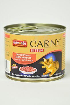 ANIMONDA konzerva CARNY Kitten hovězí , krůtí srdce 200g