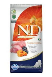 N&D GF Pumpkin DOG Puppy M/L Lamb & Blueberry 2x12kg