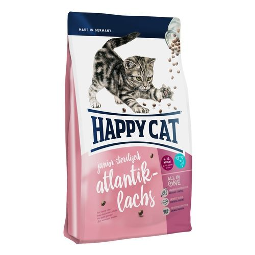 Happy Cat Junior Sterilised Atlantik-Lachs / Losos 4kg Happy Dog