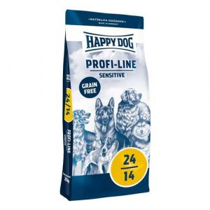 Happy Dog 24-14 SENSITIVE Grain Free 20kg + Sušené maso 75g ZDARMA