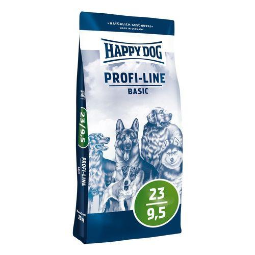 Happy Dog Profi-Line 23/9,5 Basic 20+20kg + Sušené maso 75g ZDARMA