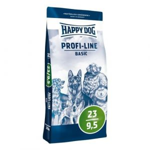 Happy Dog Profi-Line 23/9,5 Basic 20kg + Pochoutka 80g ZDARMA