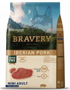 BRAVERY dog ADULT MINI Grain Free Iberian pork 7kg