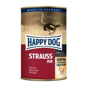 Happy Dog Strauss Pur - pštrosí 400g