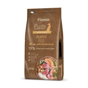 Fitmin Purity Rice Puppy Lamb&Salmon 2x12kg + Pochoutka 250g ZDARMA