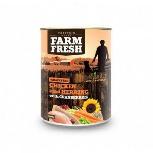 Farm Fresh Chicken and Herring with Cranberries 400g 5+1 ZDARMA
