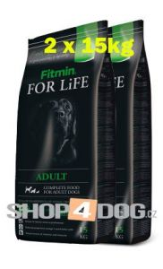 Fitmin Dog FOR LiFE adult 2x15kg + Perfecto Dog Masové plátky (20ks/200g) ZDARMA