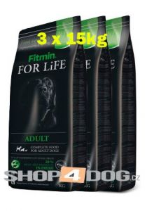 Fitmin Dog FOR LiFE adult 3x15kg + Perfecto Dog Masové plátky (20ks/200g) ZDARMA