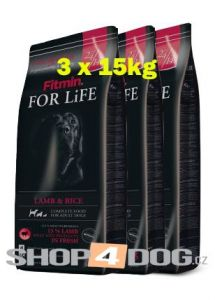 Fitmin Dog FOR LiFE Life Lamb & Rice 3x15kg + Pochoutka 250g ZDARMA