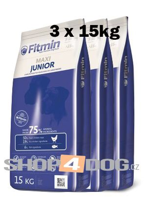 Fitmin Dog maxi Junior 3 x 15 kg