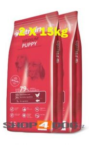 Fitmin Dog Medium Puppy 2x15kg + Pochoutka Denta Stix