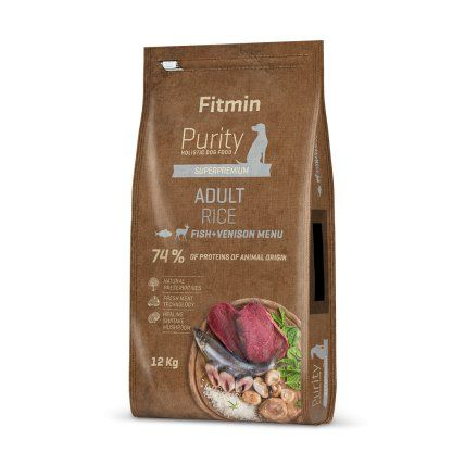 Fitmin Purity Rice Adult Fish&Venison 12kg