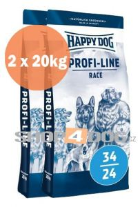 Happy Dog Profi-Line 34/24 Race Krokette 20+20kg