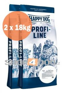 Happy Dog Profi-Line Adult Mini 18+18kg + Sušené maso 75g ZDARMA