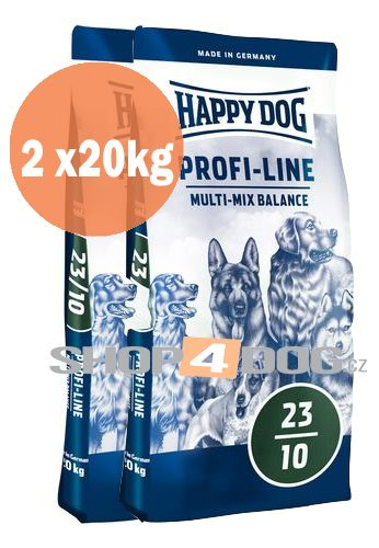 Happy Dog Profi-Line Multi-Mix Balance 20+20kg + Sušené maso 75g ZDARMA