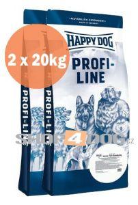 Happy Dog Profi-Line NaturKost 20+20kg + Perfecto Dog Masové plátky (20ks/200g) ZDARMA