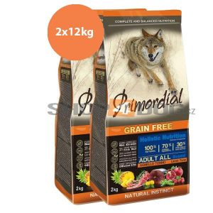 Primordial Pet Food PGF Adult Tuna & Lamb 2x12kg
