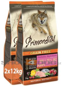 Primordial Pet Food PGF Puppy Chicken & Sea Fish 2x12kg