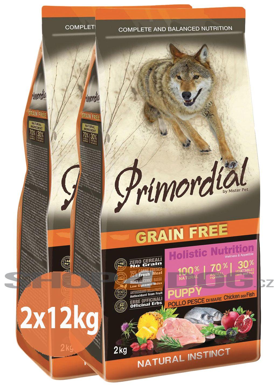 Primordial Pet Food PGF Puppy Chicken & Sea Fish 2x12kg
