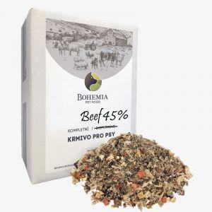 BOHEMIA barf směs BEEF 45% 2,5kg   (30/15)
