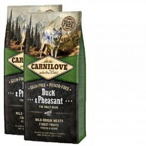 Carnilove Dog Duck & Pheasant for Adult  NEW 2x12kg
