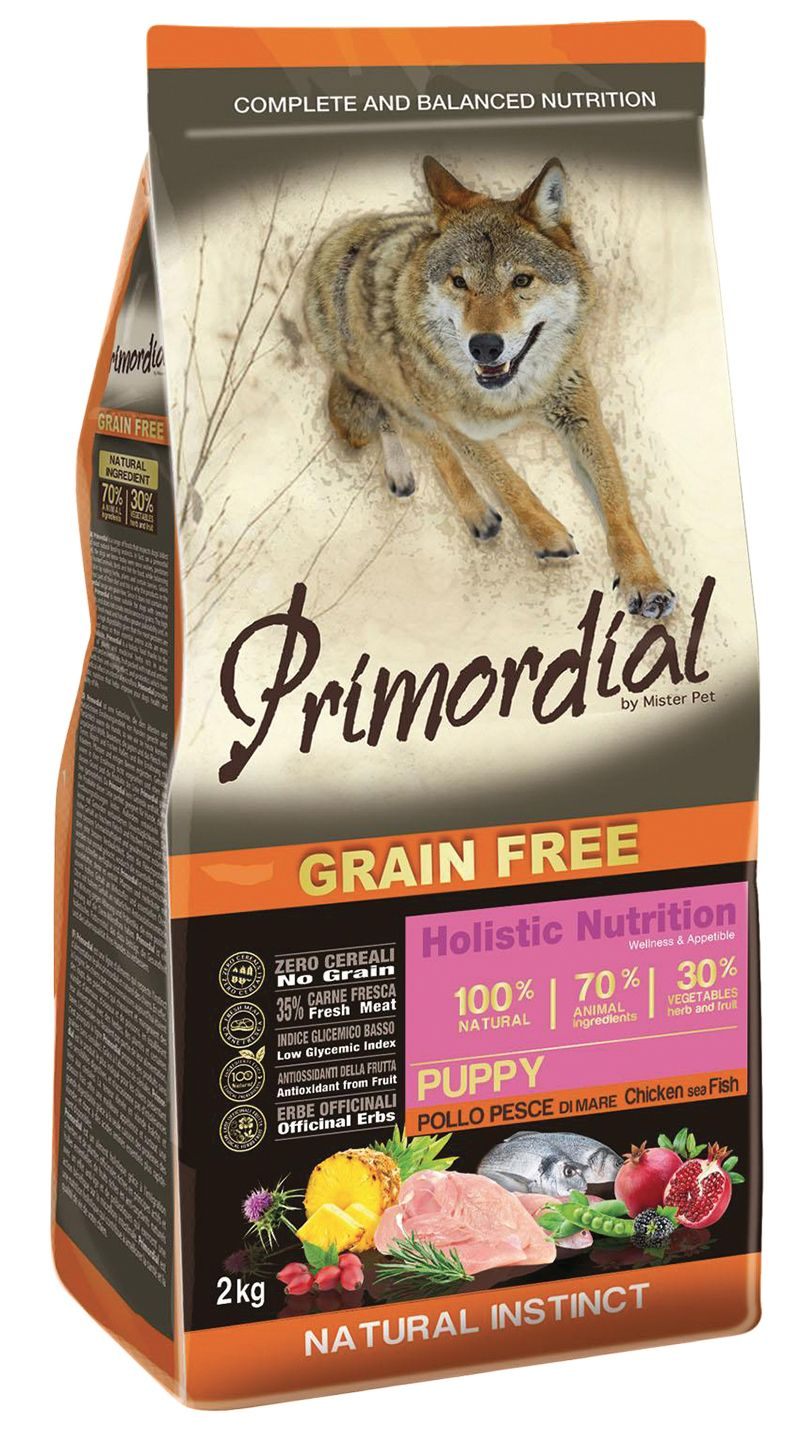 Primordial Pet Food PGF Puppy Chicken & Sea Fish 3x12kg