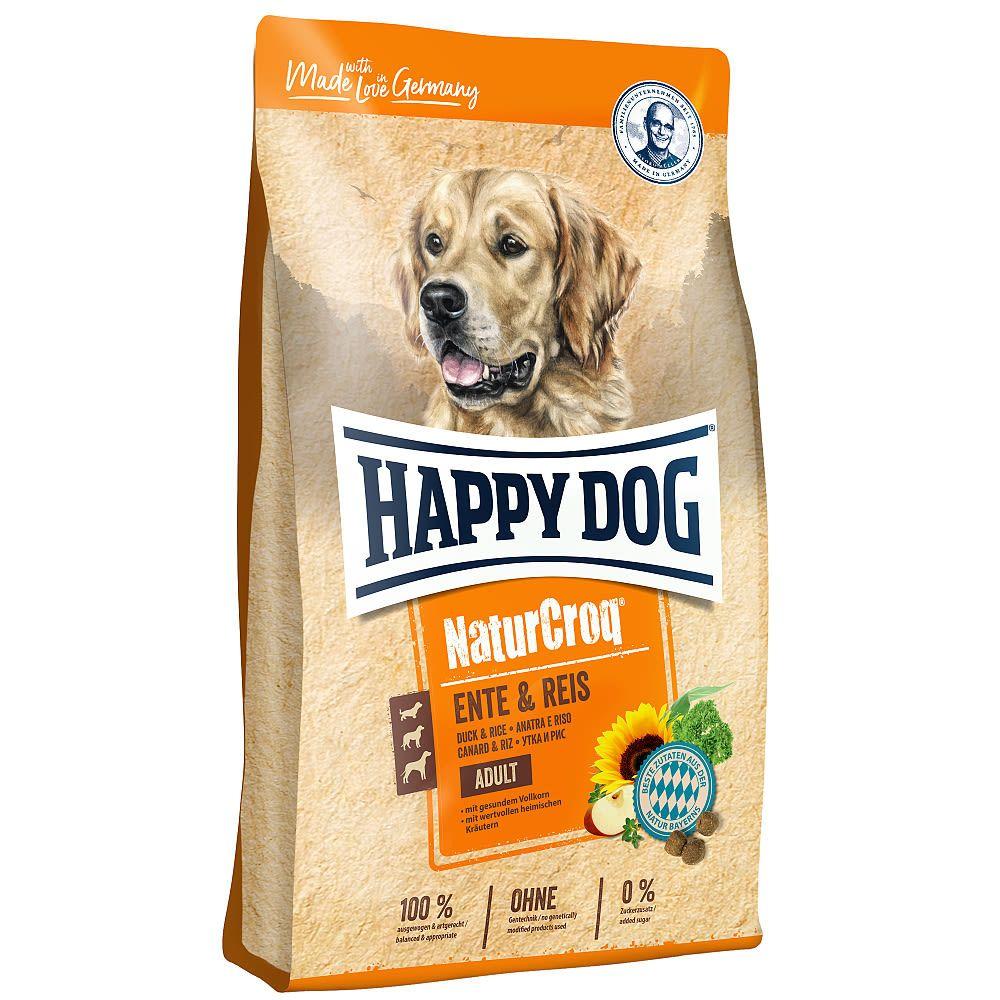 HAPPY Dog NaturCroq Ente & Reis 3x12 kg