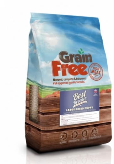 Best Breeder Grain Free Large Breed Puppy/Junior Salmon with Sweet Potato & Vegetables 2x12kg