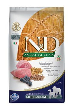 N&D LG DOG Adult M/L Lamb & Blueberry 2x12kg Farmina Pet Foods - N&D