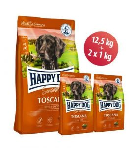 Happy Dog Toscana 12,5kg + 2kg ZDARMA