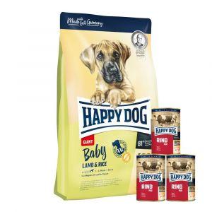 Happy Dog Baby Giant Lamb & Rice 2x15kg + KONZERVY 3x400g ZDARMA
