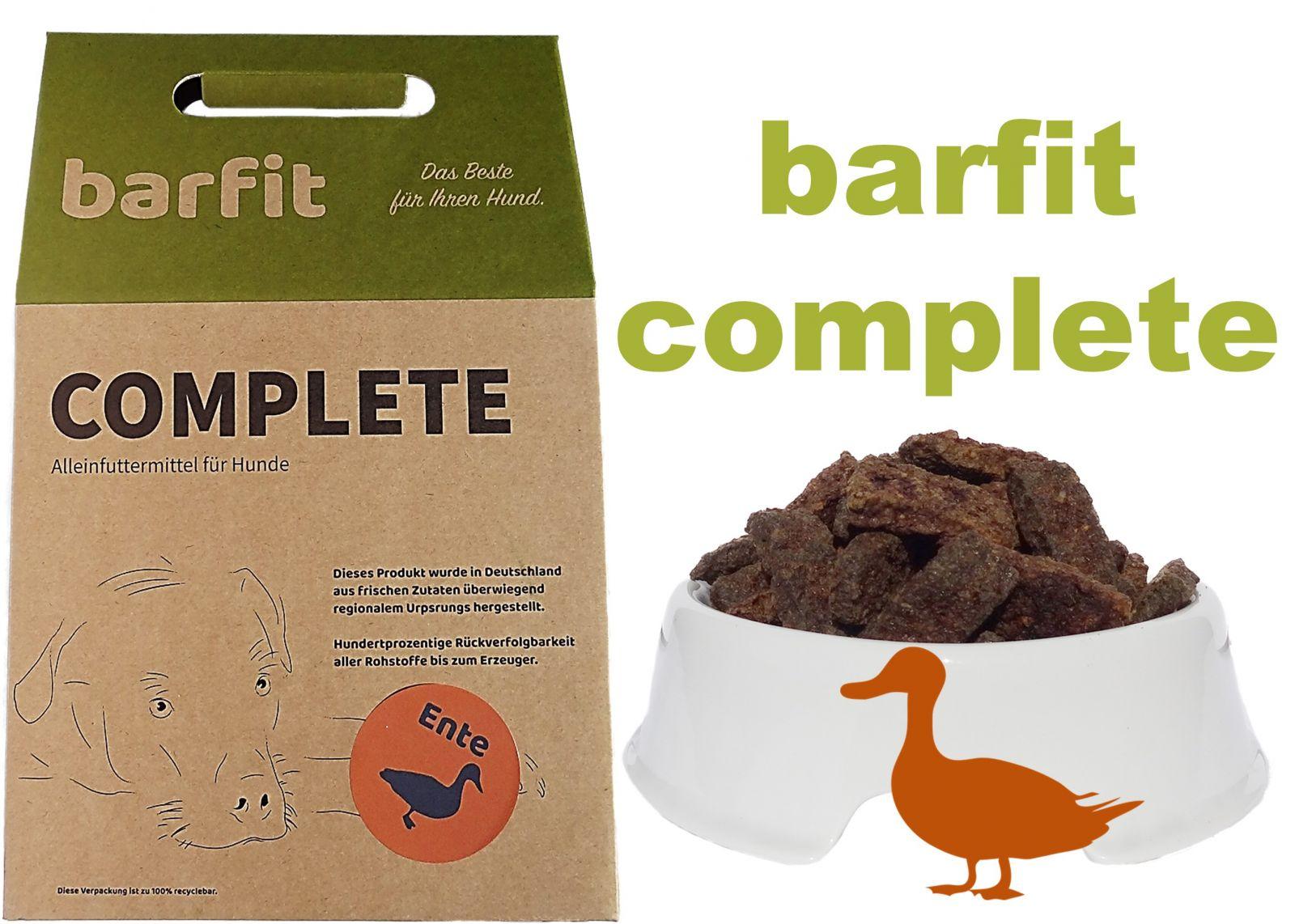 BARFIT kompletní barf směs - kachna 1000g Wallitzer