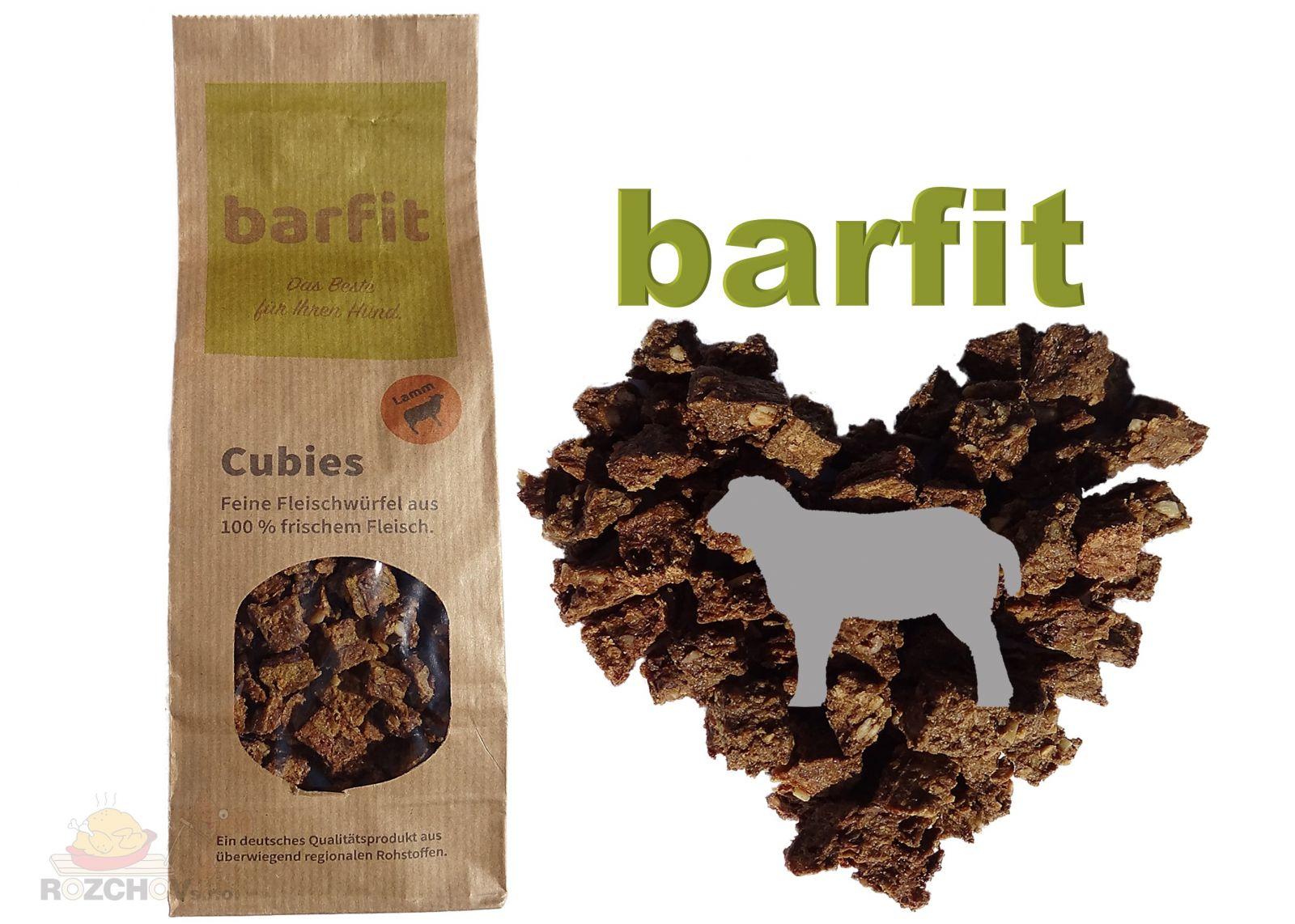 BARFIT sušené kostky masa 100% clear - jehně 200g Wallitzer