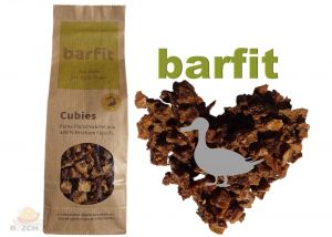 BARFIT sušené kostky masa 100% clear - kachna 200g
