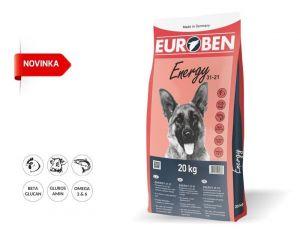 EUROBEN 31-21 Energy 20kg + Sušené maso 75g ZDARMA