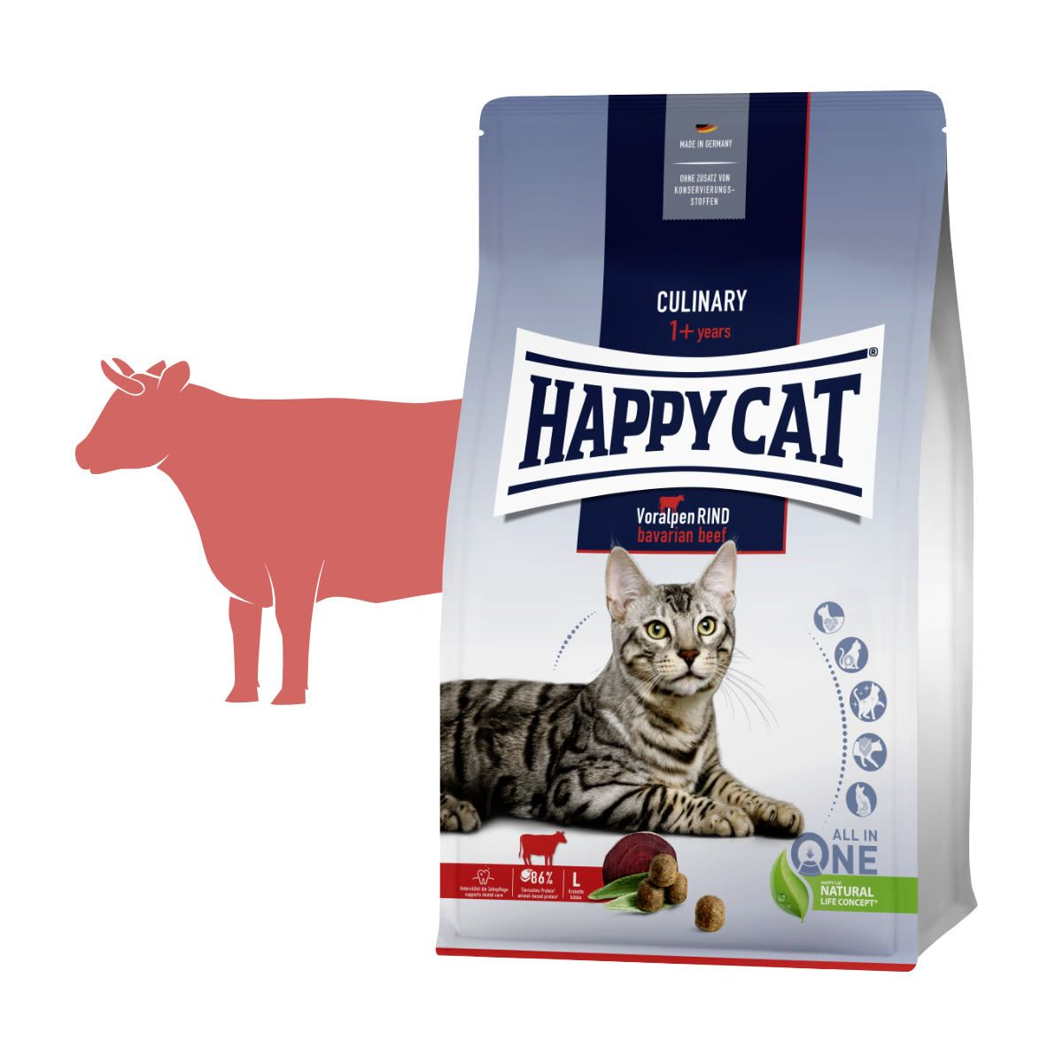 HAPPY CAT ADULT Culinary Voralpen-Rind 1,3kg