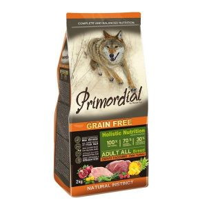 Primordial Pet Food PGF Adult Deer & Turkey 12kg + Sušené maso Magnum  80g ZDARMA