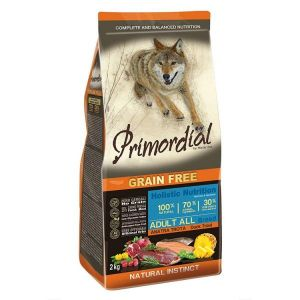Primordial Pet Food PGF Adult Trout & Duck 12kg + Pochoutka 250g ZDARMA
