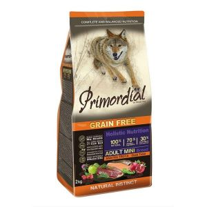 Primordial Pet Food PGF Mini Adult Trout & Duck 2kg