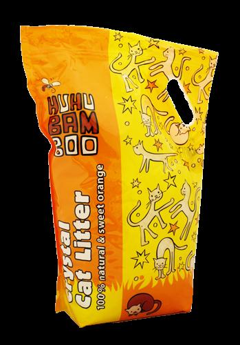 Huhubamboo Podestýlka HUHU silikon pomeranč 4x7,2L