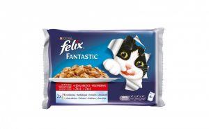 Felix Fantastic multipack s hovězím a kuřetem v želé (4ks) 4x100g