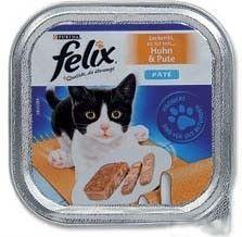 Felix paštika s kuřecím a krůtou ve šťávě 100g